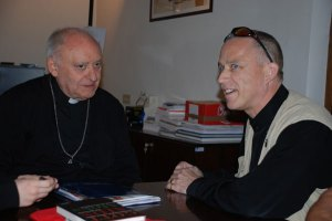 Bishop Jose, secretary of the papal council and Fr Stefan