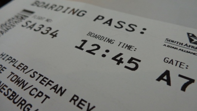 Ticket for the first leg of the trip