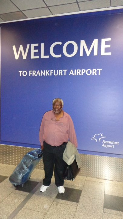 Sam Tuntubele - Vice Chair of HOPE Cape Town Trust arrives in Frankfurt