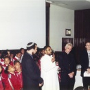 Interfaith praying at the opening 2001
