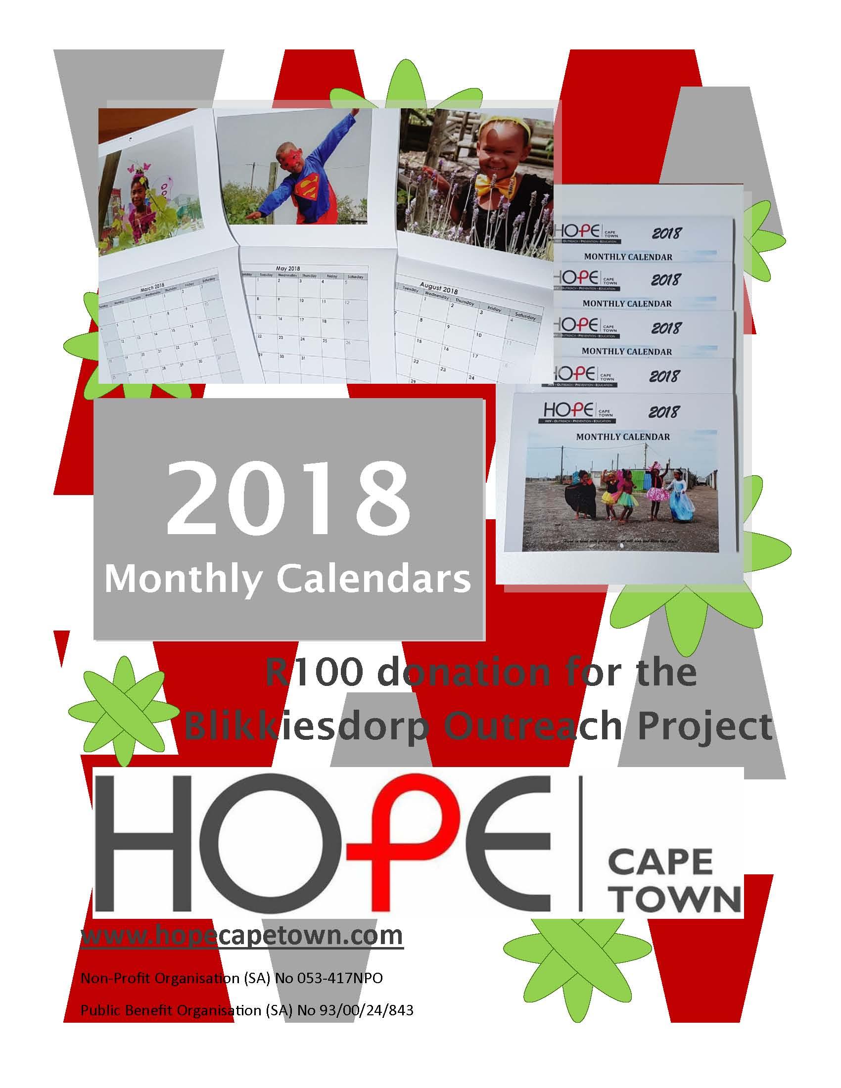 Calendar flyer
